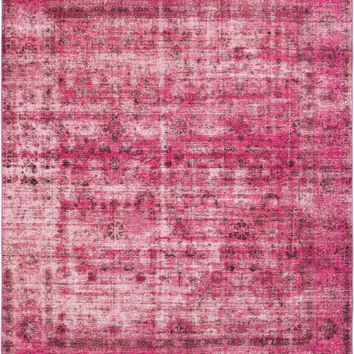 "9'6"" x 11'10"" Pink Turkish Overdyed Rug"