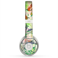The Green Bright Watercolor Floral Skin for the Beats by Dre Solo 2 Headphones
