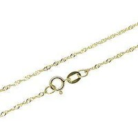 """14K SOLID YELLOW GOLD SINGAPORE CHAIN BRACELET 8"""" ONLY $36.99"""