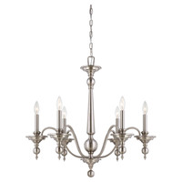 Ella Chandelier in Satin Nickel