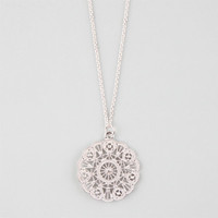 Full Tilt Medallion Necklace Metal One Size For Women 25259919101