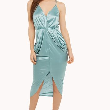 Silk dress | Pastel Silk Dresses | Draped silk dresses - AKIRA