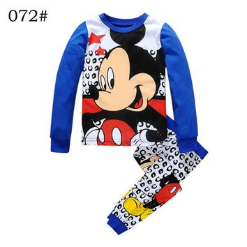Children Clothes Kids Fall Clothes Boys Girls Clothing Set Sets Blue sweatshirt Shirt pants two pieces Size for 2 3 4 5 6 7 year