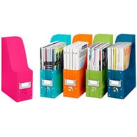Colorful Plastic Magazine Organizers (Set of 5)