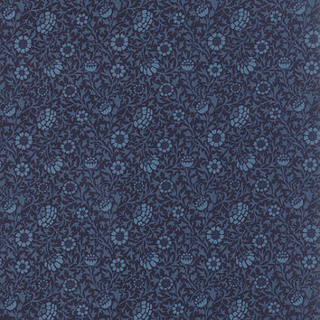 Best of Morris by Barbara Brackman for Moda Fabrics, indigo, 821223