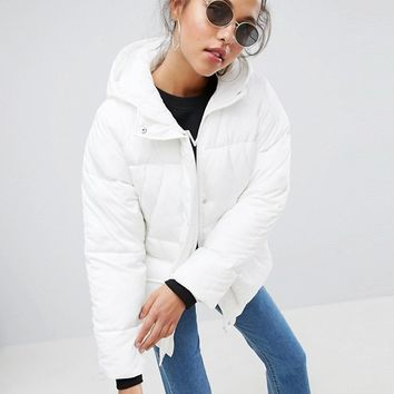 ASOS Puffer With Pocket Detail at asos.com