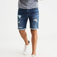 AE Ne(x)t Level Denim Cutoff Short, Dark Wash