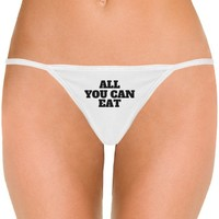 All You Can Eat Buffet: Dirty Laundry Underwear Thong