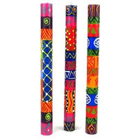 Set of Three Boxed Tall Hand-Painted Candles - Shahida Design - Nobunto