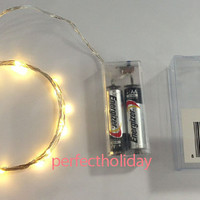 20 Mini Copper LED String Fairy Lights Battery Operated