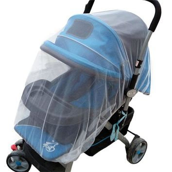 Summer Safe Baby Carriage Insect Full Cover Mosquito Net Baby Stroller Bed web nets protecting baby-car pram drop shipping