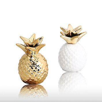 Nordic Gold Pineapple/storage Plate Figurines Pineapple Piggy Bank Creative Bedside Dcorative Accessories Girl/wife/mother Gift