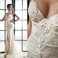 Lace wedding dress. Wedding dress. Bridal gown Irina.