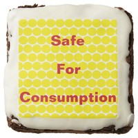 """Safe For Consumotion"" Brownie"