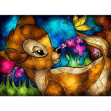 5D Diamond Painting Stained Glass Bambi Kit