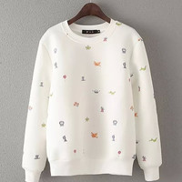 Long Sleeve Embroidery Sweatshirt