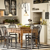 Laney Fixed Kitchen Table | Pottery Barn