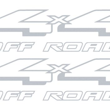Ford F-150 and F-250 (1997 - 1999 ) replacement 4x4 Off Road bedside vinyl graphic decals - Style 08FF OEM