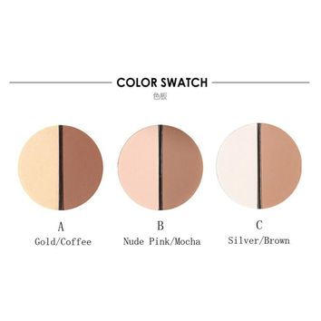Bling Focallure Pro Make up Face Two-Color Bronzer Highlighter Trimming Powder Make Up Cosmetic Face Concealer Matte Powder