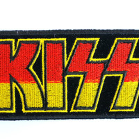 "KISS Logo Sew On Embroidered Patch 4""/10cm"