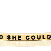 She Believed She Could, So She Did bracelet from MantraBand