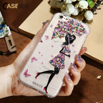 CASEIER 3D Art Print Case For iPhone 6 6s 5 S SE 7 Plus Colorful Printing Soft Silicone Cover For Samsung S6 S7 Edge Fundas Capa