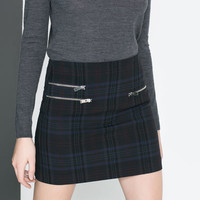 MINI SKIRT WITH ZIPS - Skirts - Woman | ZARA United States