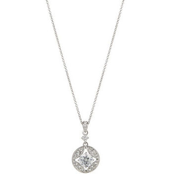 Nadri Pave and Rhinestone Pendant Necklace