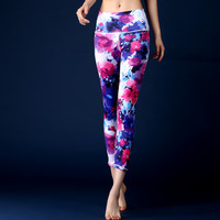Colorful 3D Print Yoga Pants Fitness Yoga Leggings Push Up Running Sport Tights Women Workout