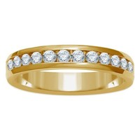 14K Yellow Gold .50 cttw Channel-Set Diamond Ladies' Wedding Band