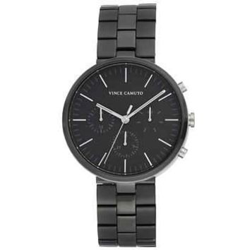 Vince Camuto Black Stainless Steel Men's Watch