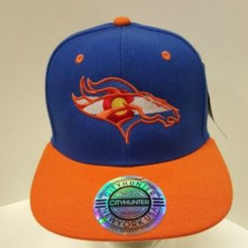 Colorado Broncos Hat embroidered on Snapback Flat Bill Hat Denver  Flag