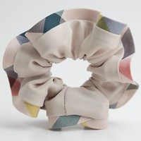 Check Fabric Trimmed Elastic Hair Scrunchies Accessories