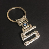 BLING BMW Keychain with Swarovski crystals bmw sleutelhanger bmw emblem bmw Keychain bmw Key chain bmw 5er five