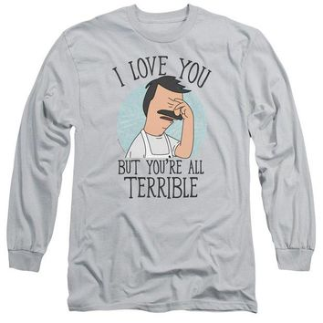 ac NOOW2 Bobs Burgers - Love You Terribly Long Sleeve Adult 18/1