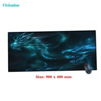 Mysterious Dragon Printing 900 x 400 mm Large Size Gaming Mouse Pad Locking Edge Mouse Mat Rubber Computer Mousepad 2017 Latest