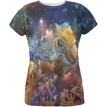 Cuttlefish IN SPACE All Over Womens T-Shirt