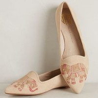 Embroidered Elephant Loafers by House of Harlow 1960