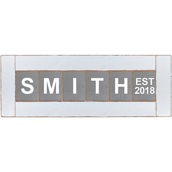 Personalized Classic Block Wall Decor | White Frame