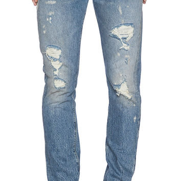 LEVI'S Vintage Clothing 1966 501 Jeans Customized in Silver Rebel