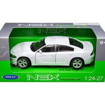 2016 Dodge Charger R/T White 1/24 - 1/27 Diecast Model Car by Welly