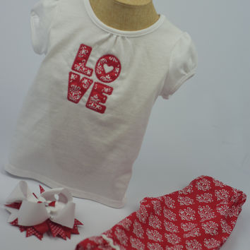 """LOVE"" Outfit by Mandy Lou {Red/White}"