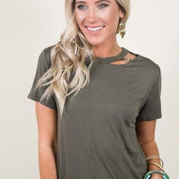 Chain Link Cut Out Tee