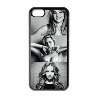 Actress Design-1 Jennifer Lawrence Print Black Case With Hard Shell Cover for Apple iPhone 5C