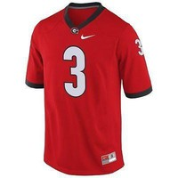 Georgia Bulldogs Jersey Nike Mens #3 Replica Football Red