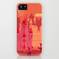 Armageddon But Dinosaurs iPhone & iPod Case by Mitch Loidolt