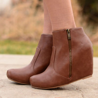 Full Stride Ankle Booties - Chestnut