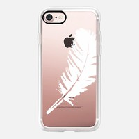 white feather iPhone 7 Carcasa by Julia Grifol Diseñadora Modas-grafica | Casetify