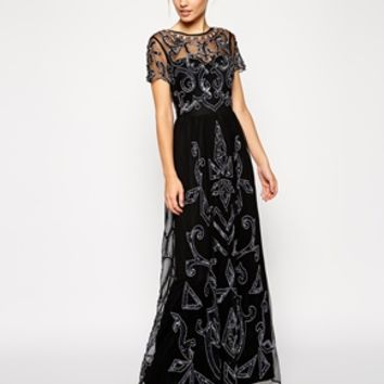 ASOS Embellished Pretty Gothic Maxi Dress