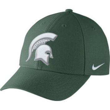 DCCKG8Q NCAA Michigan State Nike Mens Spartans Green Dri-FIT Wool Classic Adjustable Hat